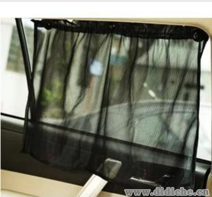 吸盘式汽车窗帘|窗纱|车用黑纱窗帘|网纱式避光布|通用型隔热帘,窗帘汽车内外饰用品